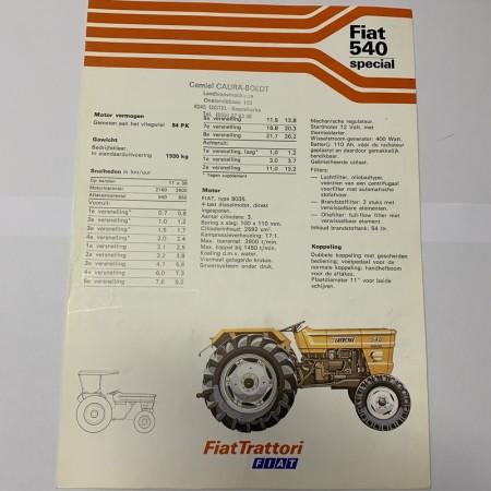 Folder FIAT 540 Special